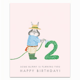 Some Bunny is Turning 2! Greeting Card