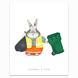 Thank You Essential Sanitation Workers Greeting Card