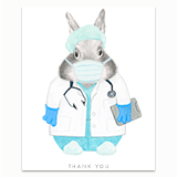 Healthcare Worker - Doctor Greeting Card