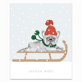 Joyeux Noël Frenchie Greeting Card