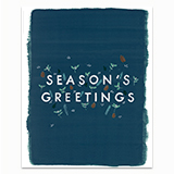 Season's Greetings Painted Edge Greeting Card