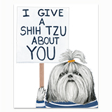 I give a Shih Tzu Greeting Card