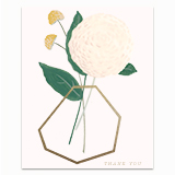 Geometric Thank You Vase Greeting Card