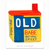 You're Old Babe Greeting Card