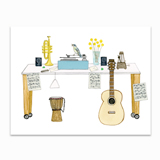 Music Lover's Desk Stationery